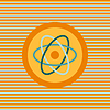 Atom ikona kolor płaskim   Stock Vector Graphics