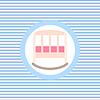 Łóżeczko ikona kolor płaskim | Stock Vector Graphics