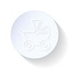 Wózki dla dzieci cienkie linie ikona | Stock Vector Graphics