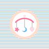 Kinderschlaflied Spielzeug Farbe Flach icon