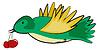 Векторный клипарт: зеленая птица