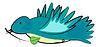 Векторный клипарт: Синяя птица
