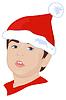 Векторный клипарт: новогодний эльф