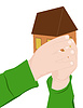 Векторный клипарт: Ребенок проводит дом
