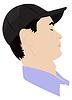 Векторный клипарт: Портрет парня дозирования