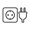 Plug and socket icon | Stock Vector Graphics
