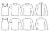 Singulett, T-Shirt, Langarm-T-Shirt und Jacke