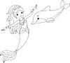 Meerjungfrau und Delphin Malvorlagen