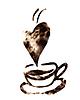 Estilizada taza de café | Ilustración vectorial