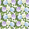 Decorative seamless pattern with roses | Stock Vector Graphics