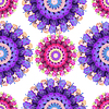 Decorative seamless pattern with stylized flowers | Stock Vector Graphics