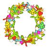Christmas Wreath Drawing - | Stock Vector Graphics