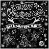 Christmas Card on Chalkboard - . Chalk l | Stock Vector Graphics
