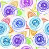 Dekorative nahtlose Muster mit stilisierten Blumen