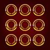 Векторный клипарт: Набор роскошные золотые этикетки