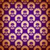 Jednolite wzór z elementami kwiatów   Stock Vector Graphics