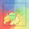 Abstrakcyjne geometryczne tło z wielokątów | Stock Vector Graphics