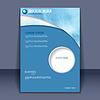 Abstrakcyjna Akwarele stylu projekt broszury | Stock Vector Graphics