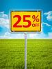 25 procent sprzedaży | Stock Foto