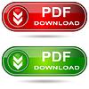 Векторный клипарт: PDF Скачать кнопки