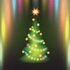 Векторный клипарт: Главная Рождественская елка на фоне красочных