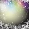 Векторный клипарт: Рождественские снежинки на фоне красочных