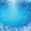 Векторный клипарт: Рождественские снежинки на синем фоне