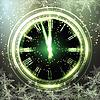 Векторный клипарт: Старые часы праздник огней