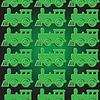 nahtlose Hintergrund mit Dampflokomotiven