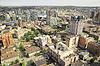 Widok z lotu ptaka centrum miasta | Stock Foto