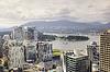 Widok z lotu ptaka centrum miasta. | Stock Foto