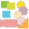 Векторный клипарт: Обрывков разноцветных листов бумаги