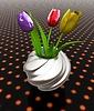 Tulipany z liści w Wazon | Stock Illustration