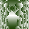 Векторный клипарт: illustration of abstract background in green