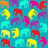 Elephant nahtlose Muster und nahtlose Muster in