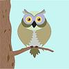 Векторный клипарт: Старый сова