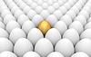 Golden and white eggs | Stock Illustration