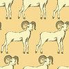 Skizze Neujahr RAM im Vintage-Stil