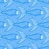 Рыба мило бесшовные модели | Векторный клипарт