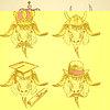 Skizze ungewöhnliche Ziegen eingestellt