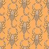 Skizze schrecklichen Skorpion im Vintage-Stil