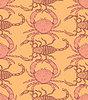 Skizze Krabben und Skorpion im Vintage-Stil