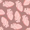 Векторный клипарт: Эскиз человеческое сердце в винтажном стиле