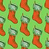 Sketch Weihnachts-Strumpf im Vintage-Stil