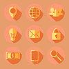 Плоские бизнес значки | Векторный клипарт