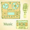 Sketch musikalischen Satz im Vintage-Stil