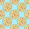 Эскиз вкусной пиццы в винтажном стиле | Векторный клипарт