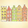 Векторный клипарт: Эскиз Амстердам подсобного в винтажном стиле