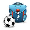 Soccer bag   Stock Vector Graphics