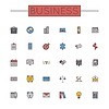 Farbige Business Line Icons